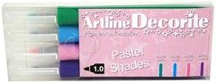 Artline Decorite Rund Pastel 4-pack