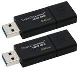 Kingston 2 x 32GB USB 3.0 DataTraveler 100 G3