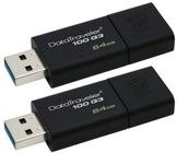 Kingston 2 x 64GB USB 3.0 DataTraveler 100 G3